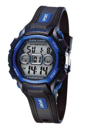 PASNEW Digital Wasserdicht 30 Multifunktions Herren Sport Armbanduhr N5