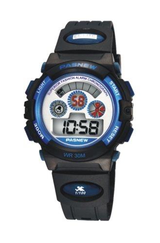 PASNEW Fashion LED Wasserdicht Sport Armbanduhr fuer Kinder Jungen Maedchen N5