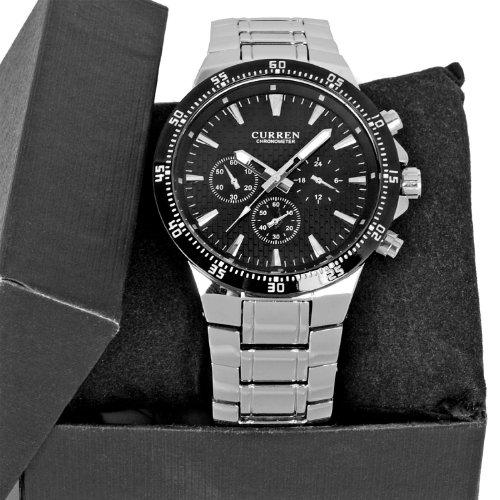 Curren Herren Armbanduhr Sport Armbanduhr Armband aus Edelstahl wasserdicht luxurioeses Fashion Accessoire Business Casual Look