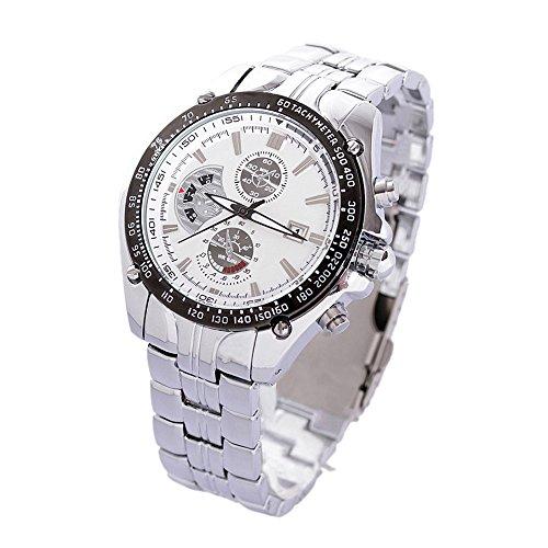 Maenner Sport Uhr CURREN Maenner Sport Uhr analoge Quarz wasserdichte Armbanduhr mit weissem Zifferblatt und Datum silber