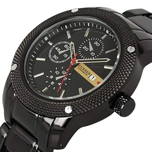 Luxus New Wasserdicht Army schwarz Edelstahl Datum Sport Quarz Herren Armbanduhr