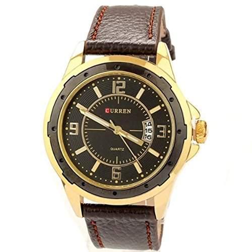 Neue Art und Weise der Maenner Luxus Famous Brand Uhren Lederband Uhr-Quarz-