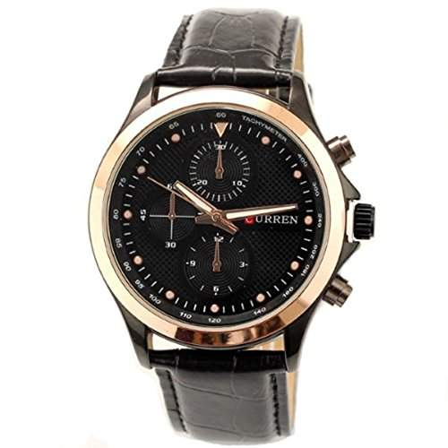 Curren Marke Lederband Uhr zu Mens Fashion Art-Quarz-Military Uhren