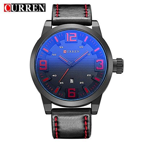 Wasserdicht Herren beliebtes rund grau Zifferblatt Fashion Lederband armbanduhr 8241 G