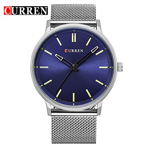 Wasserdicht Herren New Fashion Sports Quarz Analog Business Wasserdicht Blau Zifferblatt Armbanduhr 8233 G