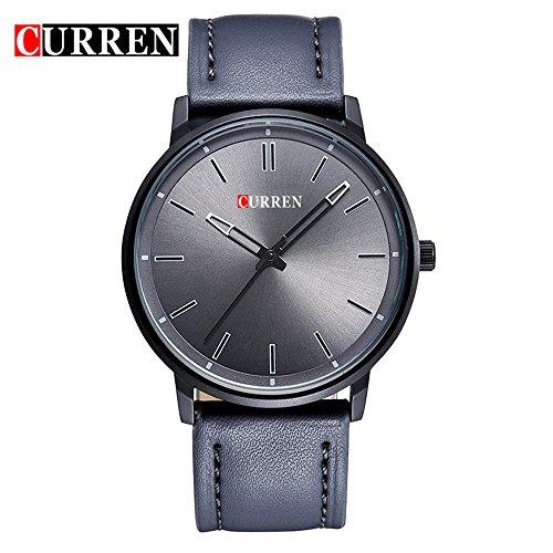 Wasserdicht Herren New Fashion Sports Quarz Analog Business Wasserdicht Grau Zifferblatt Armbanduhr 8233 G