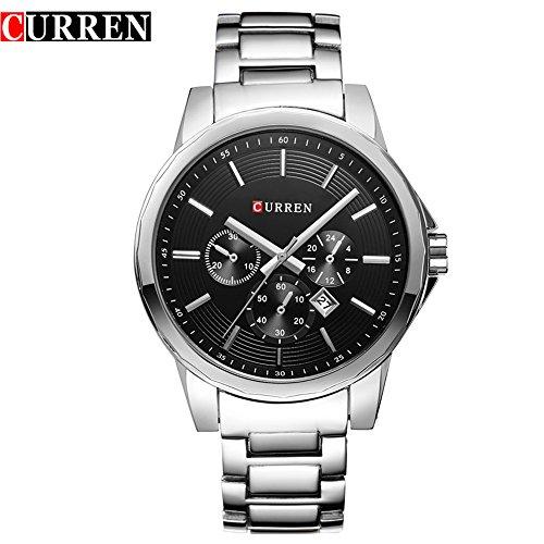 Wasserdicht New Herren Quarz Uhren Sport wasserdicht Armbanduhr 8129 G