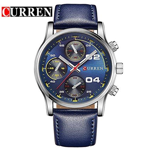 Wasserdicht Fashion Casual Quarzuhr Rubber Strap schwarzem Zifferblatt Herren Sport Armbanduhr 8207 G