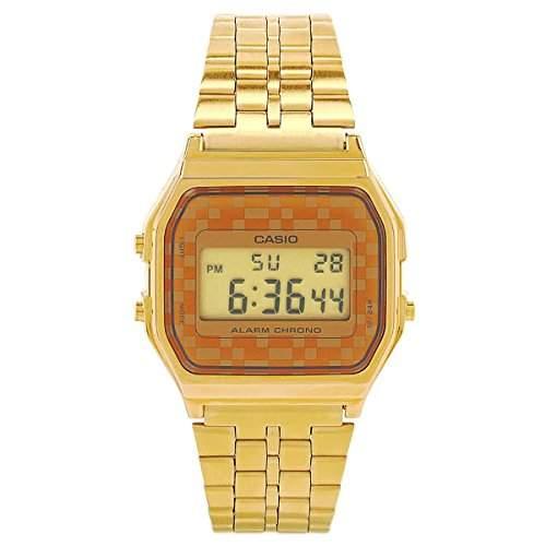 CASIO Herren-Armbanduhr Digital Quarz Edelstahl A159WG-9