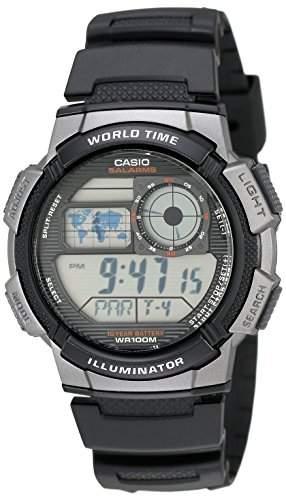 Casio Uhr mit japanischem Quarzuhrwerk Man Ae-1000W-1B schwarz 437 mm