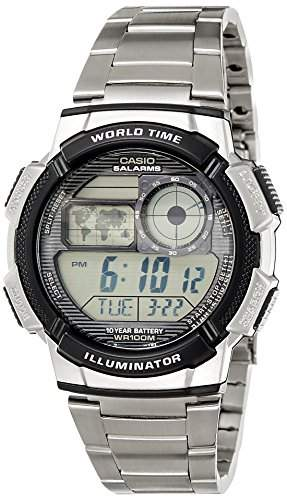 CASIO Herren-Armbanduhr Digital Quarz Edelstahl AE-1000WD-1A