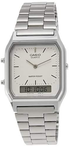 Casio Herren-Armbanduhr Retro Dual Digital Quarz Edelstahl AQ-230A-7DMQYES