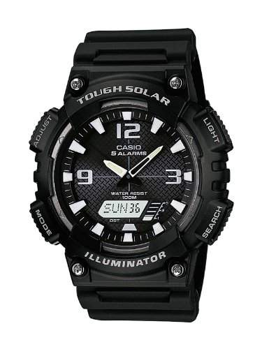 Casio Herren Armbanduhr Analog - Digital Quarz Schwarz Resin Aq-S810W-1Avef