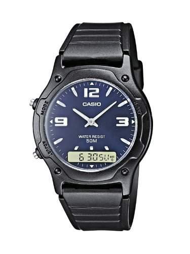 Casio Herren Armbanduhr Collection Analog  Digital Quarz Schwarz Resin Aq-160W-1Bvef