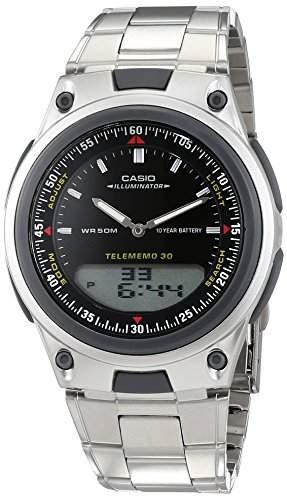 Casio Herren-Armbanduhr Analog - Digital Quarz Edelstahl AW-80D-2AVES