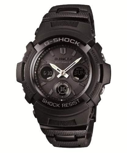 CASIO G-SHOCK BASIC  BLACK  BLUE series Six stations corresponding wave solar watch world  AWG-M100BC-1AJF Mens Watch