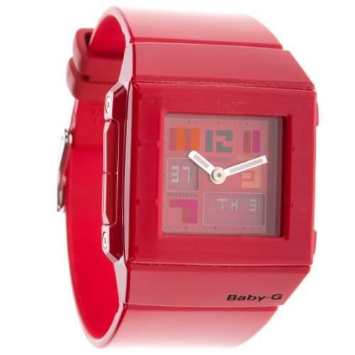 Casio Baby-G Damen-Armbanduhr rot Anaolg Digital Quarz BGA-200PD-4BER