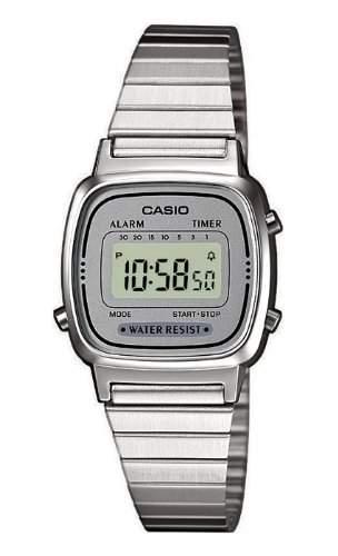 Casio Collection Retro Design Digitale Damenuhr Armbanduhr LA670WEA-7EF