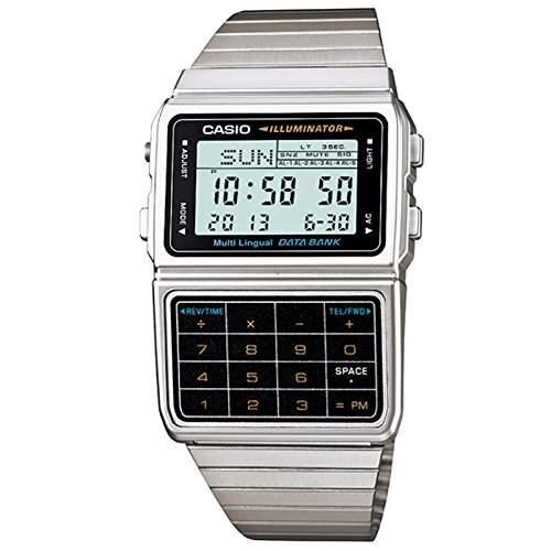 Casio Unisex-Armbanduhr Databank Digital Quarz Edelstahl DBC-611-1D