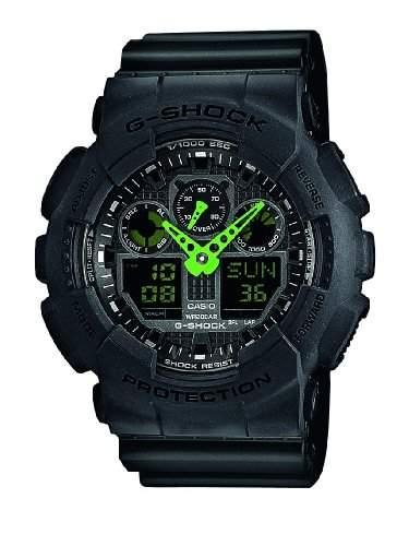 Casio Herren-Armbanduhr XL G-Shock Analog - Digital Quarz Resin GA-100C-1A3ER