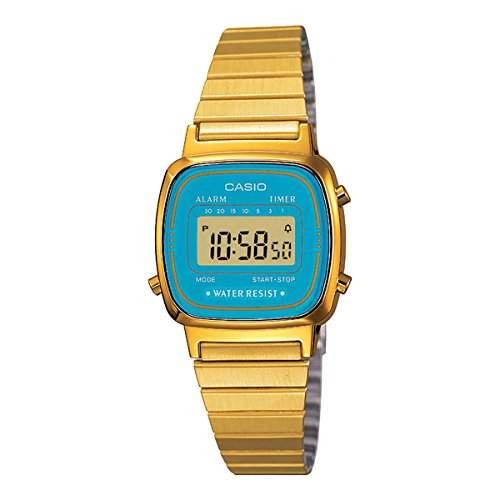 Casio Damen-Armbanduhr Vintage Digital Quarz LA670WGA