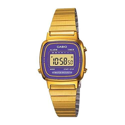 CASIO Damen-Armbanduhr Digital Quarz Edelstahl LA-670WGA-6