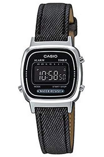 CASIO Herren-Armbanduhr Digital Quarz Textil LA-670WL-1B