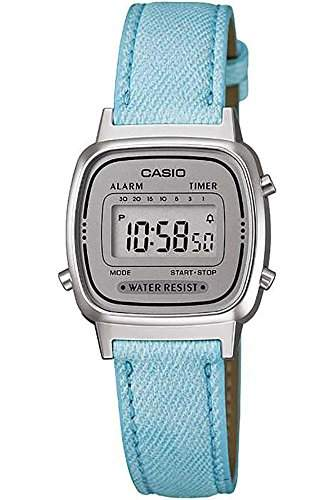 CASIO Damen-Armbanduhr Digital Quarz Textil LA-670WL-2A