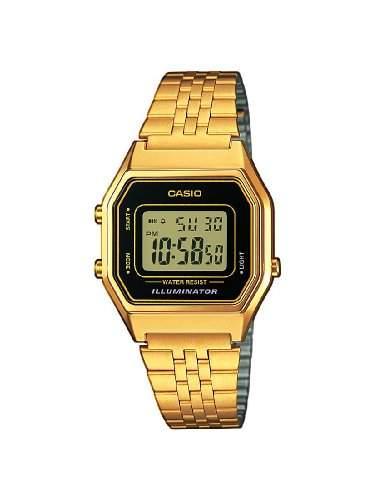 Casio Unisex-Armbanduhr Casio Collection Digital Quarz Edelstahl LA680WEGA-1ER