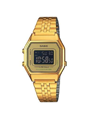 Casio Damen-Armbanduhr Casio Collection Digital Quarz Edelstahl LA680WEGA-9BER