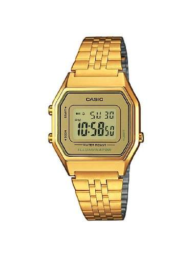 Casio Damen-Armbanduhr Digital Quarz Textil LA680WEGA-9ER