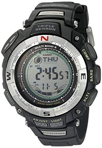 CASIO PATHFINDER MENS RESIN CASE DATE BLACK RESIN UHR PAW1500-1V