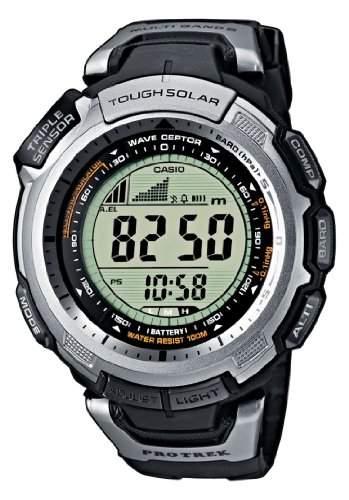 Casio Sport Unisex-Armbanduhr Pro-Trek-Funk-Solar-Kollektion Digital Quarz PRW-1300-1VER