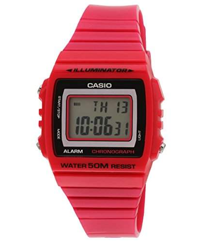 CASIO Damen-Armbanduhr Digital Quarz Resin W-215H-4