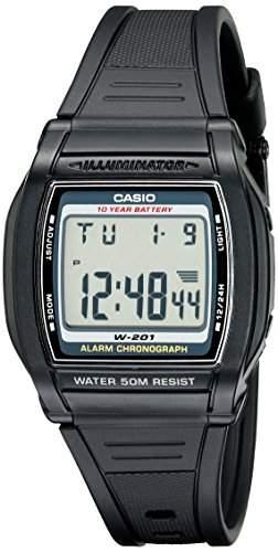 Casio Herren-Armbanduhr Digital Quarz Kautschuk W-201-1AVCH
