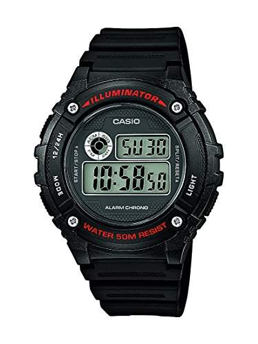 Casio Unisex-Armbanduhr Collection Digital Quarz Resin W-216H-1AVEF