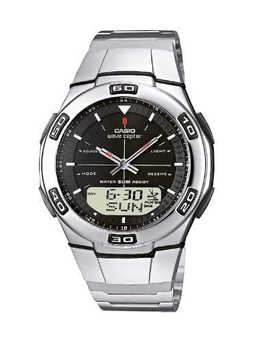 Casio Funkuhren Herren-Armbanduhr Analog  Digital Quarz WVA-105HDE-1AVER