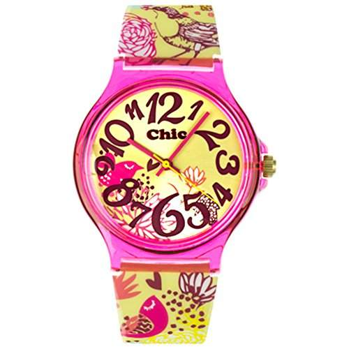 Tee-Wee Chic-Watches Damenuhr Vogelgefluester Armbanduhr Chic Lady-Uhren UC010