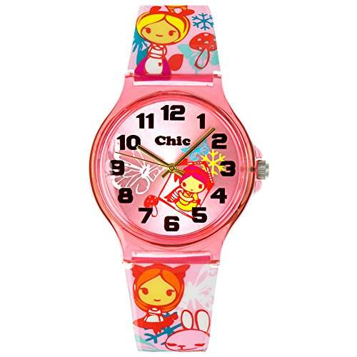 Tee-Wee Chic-Watches Damenuhr Manga Style Girl Armbanduhr Chic Lady-Uhr UC032