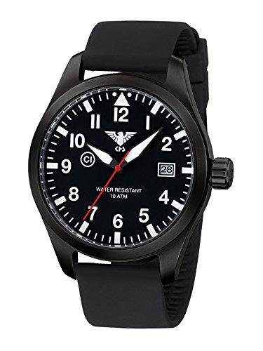 KHS Airleader Black Steel mit Silikonband black schwarz KHS AIRBS SB