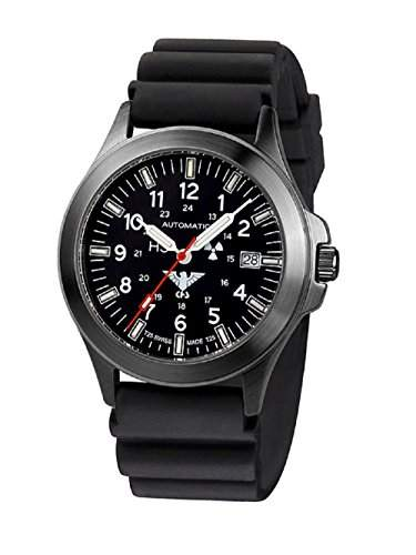 KHS Tactical Watches Black Platoon Automatic KHSBPAD Edelstahl IPB Diver
