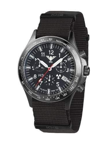 KHS Platoon H3 Chronograph - Blue - Nato-Armband - KHSBPCN