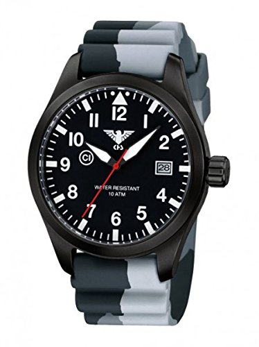 KHS Tactical Watches Airleader Black Steel KHS AIRBS DC1 Edelstahl IPB Diver