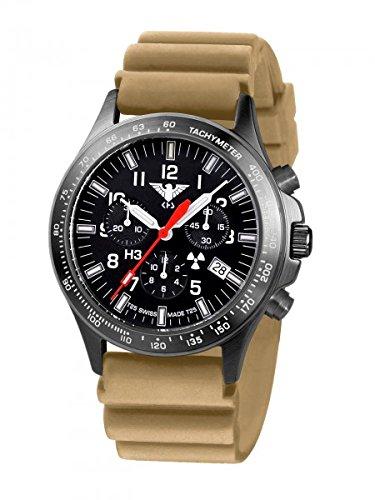 KHS Tactical Watches Black Platoon Chronograph KHS BPC DT Militaer Armbanduhr