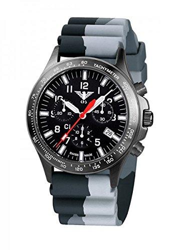 KHS Tactical Watches Black Platoon Chronograph C1 KHS BPCC1 DC1 Edelstahl IPB