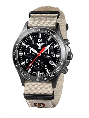 KHS Tactical Watches Black Platoon Chronograph C1 KHS BPCC1 NXTLT5 Edelstahl IPB