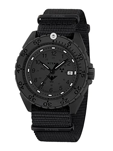 KHS Tactical Watches Enforcer Black Titan XTAC Militaer Armbanduhr KHS ENFBTXT NB