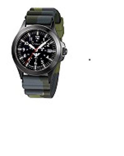 KHS Tactical Watches Black Platoon Titan Automatic KHS BPTA DC3 Titan IPB Diver Camo Olive