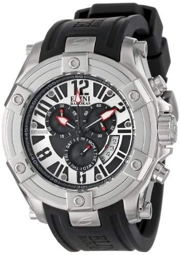 Elini Barokas Gladiator Herren-Armbanduhr 47mm Chronograph Armband Silikon Schweizer Quarz Datum 10056-01