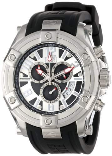 Elini Barokas Gladiator Herren-Armbanduhr 47mm Chronograph Armband Silikon Schweizer Quarz Datum 10056-02S